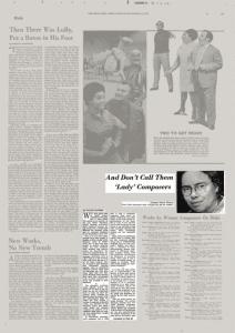 Pauline Oliveros NYT Article